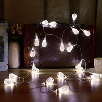 KCASA 3.3M 20 LED Metal Water Drop String Lights LED Fairy Lights for Festival Christmas Halloween