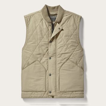 Filson - Quilted Gray Khaki Pack Vest