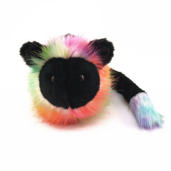 Mookoli the Black and Prism Lion Stuffed Animal Plush Toy