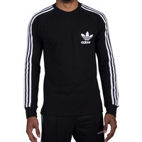adidas Long Sleeve Pique Tee (Black) - BR2042-001 | Jimmy Jazz