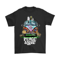 QIYIF Peace And Love Hippie Style Snoopy Shirts