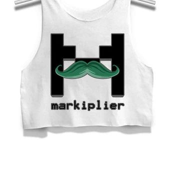 DCCKL83 Markiplier Womens Crop Tank Top