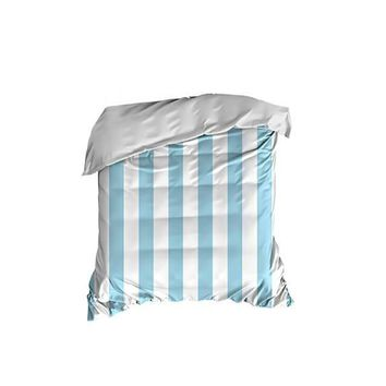 Light Blue Thick Stripes Crib Comforter