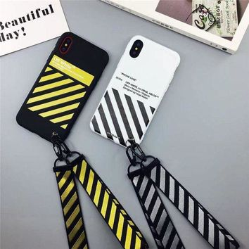 VOND4H Off White Zebra Soft TPU Case For iPhone 6 6S 7 8 Plus iPhone X Protective Cover