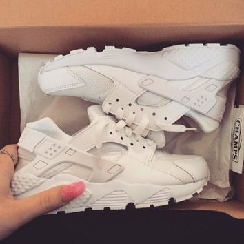 Nike Air Huarache Fashion Women Men Personalityl Running Sport Shoes Sneakers Pure White I