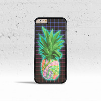 Aesthetics Pineapple Grid Case Cover for Apple iPhone 4 4s 5 5s 5c 6 6 Plus & iPod Touch