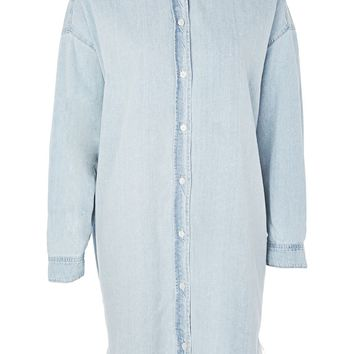 PETITE Denim Fray Hem Dress | Topshop