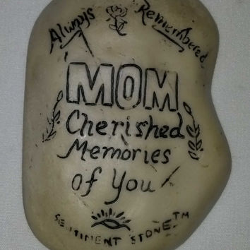 Visitation Stone for Graves - Mom