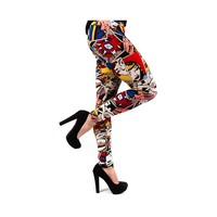Womens Comic Print Leggings