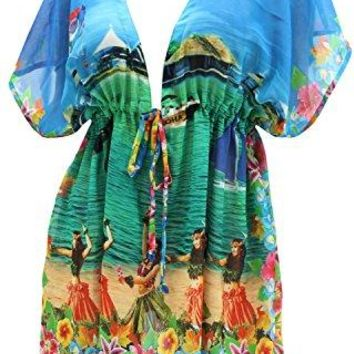 La Leela Bathing Suit Bikini Swim Beach wear Swimsuit Cover up for Women Caftan Dress Tie Dye