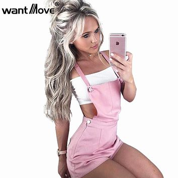 Wantmove short women jumpsuit S-XL 2018 new Style Women Rompers Exclusive Overalls Romper rivet Jumpsuits XD756