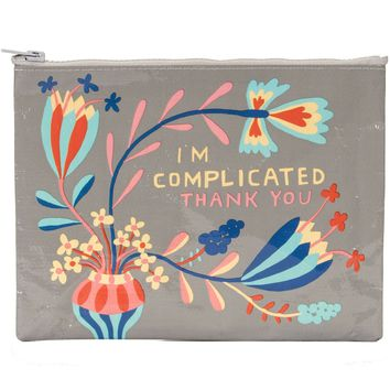 I'm Complicated Thank You Zipper Pouch