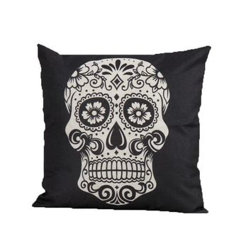 Skeleton Throw Pillow Case