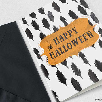 Halloween Card-Halloween party card-happy halloween card-handmade card-4x6 card-Halloween Invitation-greeting card -NATURA PICTA-NPGC103