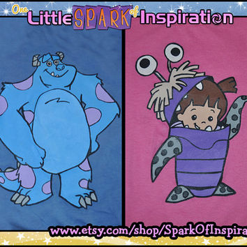 Monsters Inc - Monsters University - Sully James P. Sullivan & Boo  T-Shirt Commission