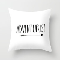 Adventurist Throw Pillow by BELLES & GHOSTS©
