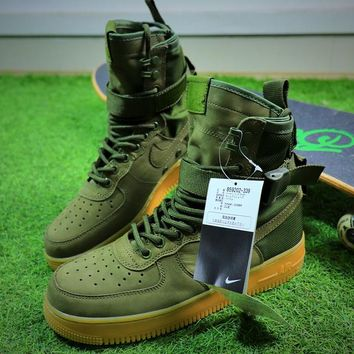 Nike Special Forces Air Force 1 SF AF1 Boots Army Green Shoes Men Sneaker - Best Online Sale