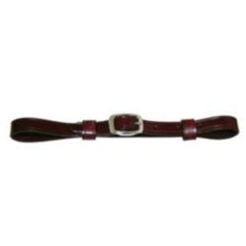 Western Flat Leather Curb Strap