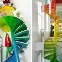 Cool And Fun Living Space ? Rainbow House   materialicious