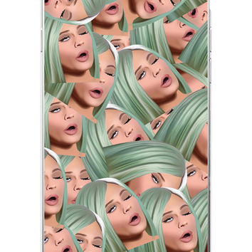 Kimoji Kim Kardashian kanye west north kylie jenner Soft TPU Phone Case Cover Coque For iPhone 7Plus 7 6 6S 5 5S SE 5C 4 4S 15