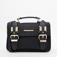 River Island Black Mini Textured Satchel