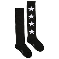 Girls Black 'Norvina' Star Long Socks