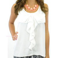 Posey Bow Front Tank White