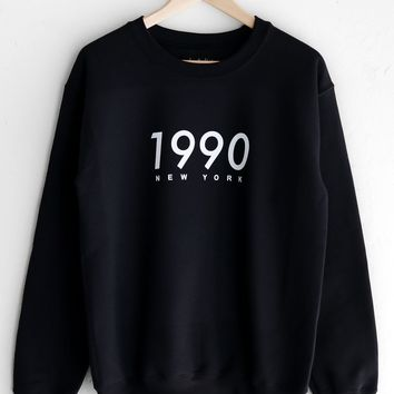 1990 New York Oversized Sweatshirt