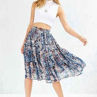 Love Sadie Marbled Pleated Skirt