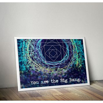 Big Bang Alan Watts Poster Bohemian Art Print Poster With Design no frame 20x30 Large