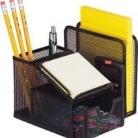 Mesh all in one Desk Caddy office sorter & Organizer by RAMBUE