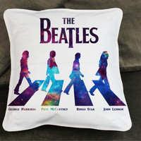 the beatles in galaxy nebula galaxy pillow case custom zippered pillow case one side and two sides
