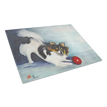 Chihuahua Play Ball Glass Cutting Board Large MH1054LCB