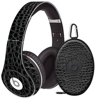 Textured Black Crocodile Skin  for the Beats Studio Headphones & Case by skinzy.com