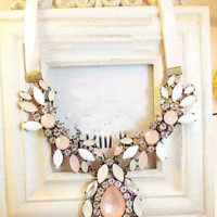 Charm Fashion Jewelry Pendant Chain Crystal Choker Bib Necklace Chunky Statement