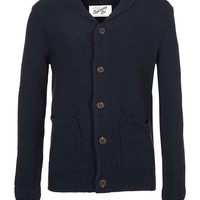 NAVY LAMBSWOOL CARDIGAN - Sale Sweaters & Cardigans - Sale - Sale Sweaters & Cardigans - TOPMAN USA