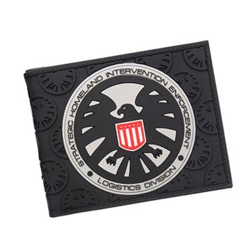 AGENTS OF S.H.I.E.L.D. Wallet The Avengers Super Hero Slim Men Wallets Bifold Comics Eagle Purse Wallet For Teenager Boys Girls