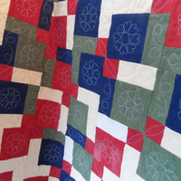 Quilt Baby Quilt Scrappy Quilt Crib Quilt  Blanket Lap Quilt Shower Gift MDPromo Vintage Homemade Quilt  Quilted Throw Quilt Girl Quilt
