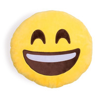 Extra Happy Emoji Pillow