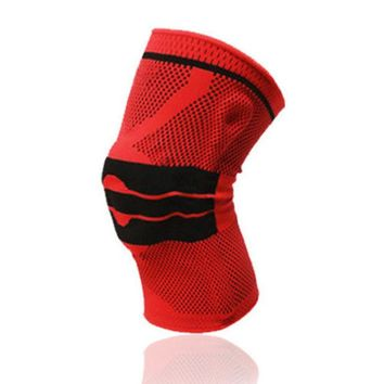 DCCKL72 1 Pcs Basketball Knee Pad Sport Safety Football Volleyball Silicone Knee Brace Tape Knee Support Calf  Protection L389