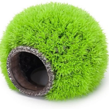 "AQUATICS - ORNAMENTS/DECOR - GRASSY HIDEAWAY 8"" - DECO REPLICA - PENN PLAX INC - UPC: 30172078620 - DEPT: AQUATIC PRODUCTS"