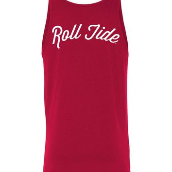 Official NCAA Venley University of Alabama Crimson Tide UA ROLL TIDE! Cursive Unisex Tank - 35AL-4