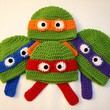 Deals Blast: Kids TMNT Hat - Teenage Mutant Ninja Turtle Hat - Christmas Gift for Kids - Kids Tmnt Halloween Costume - Crochet TMNT Hat