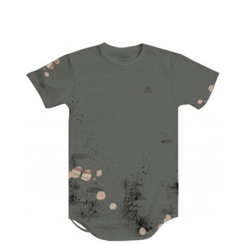 Civil - Hell & Back LT French Terry Thrashed Drop Tee - Olive