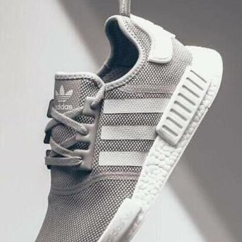 ADIDAS Women Running NMD Sport Casual Shoes Sneakers Grey