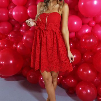 Will You Be My Valentine Dress: Red
