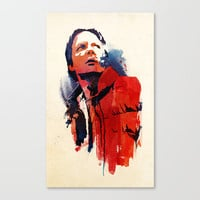 Marty McFly Stretched Canvas by Robert Farkas