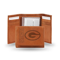 Green Bay Packers NFL Tri-Fold Wallet (Pecan Cowhide)
