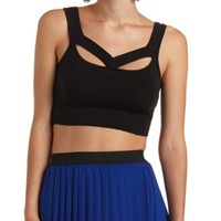 V Cut-Out Fitted Crop Top