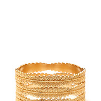 FOREVER 21 Gilded Goddess Bangle Set Gold Med/Lg